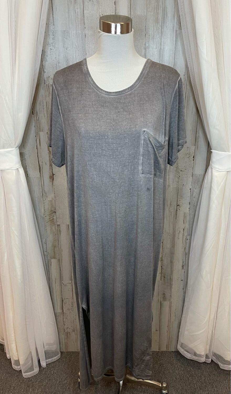 Umgee Grey Dress w/Pocket - M
