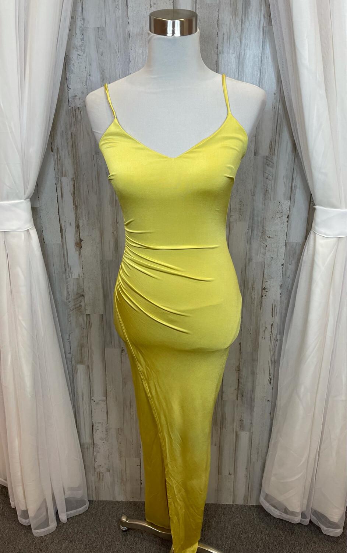 Fashion Nova Yellow Jonna Maxi Dress - S
