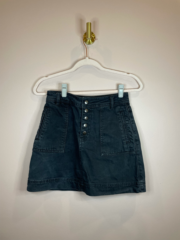 Free People Black Denim Skirt - Size 24