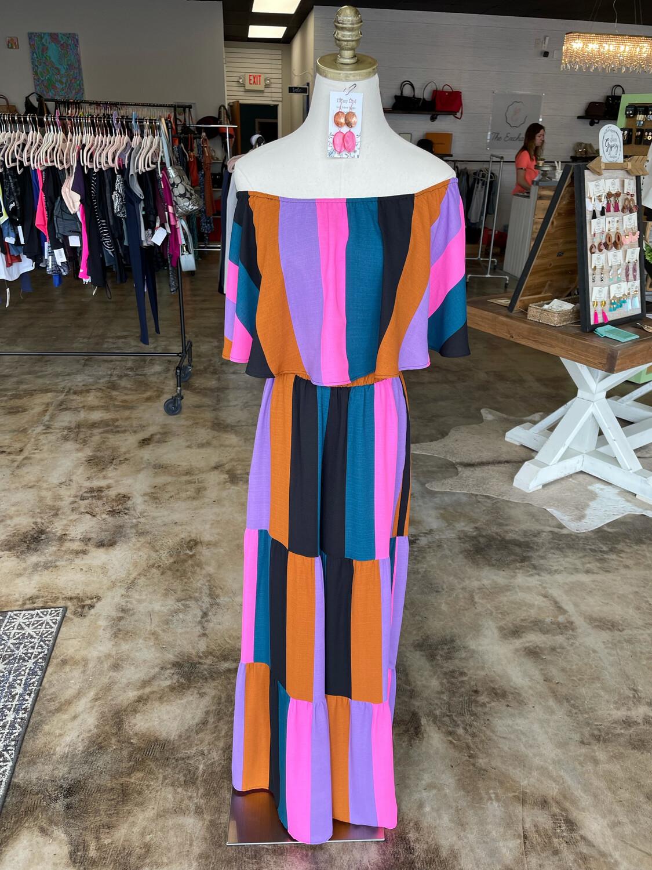 Show Me Your Mumu Multicolor Stripe Ruffle Top - S