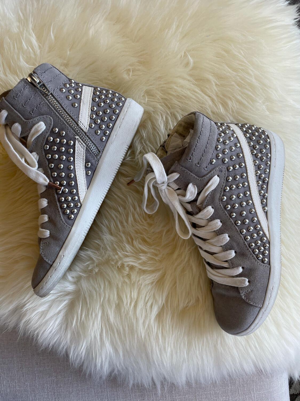 Dolce Vita Grey Studded Hightops - Size 6
