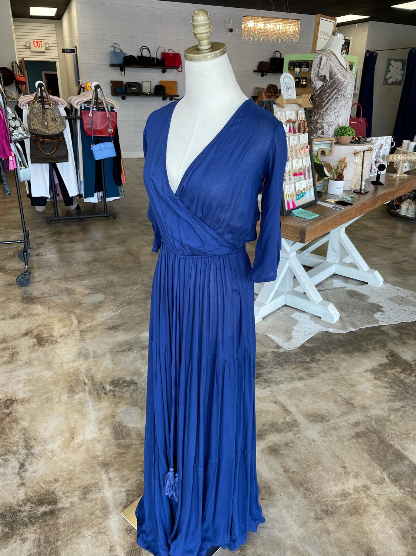 Aila Blue Navy Criss Cross Dress - XS