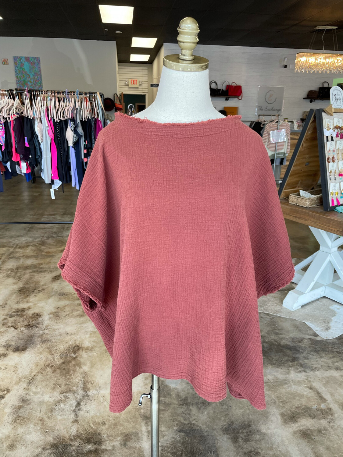 Before You Clay Gauze Top - S
