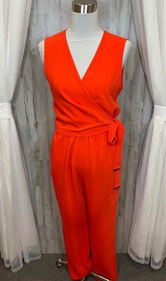 Antonio Melani Orange Wrap Jumpsuit - Size 6