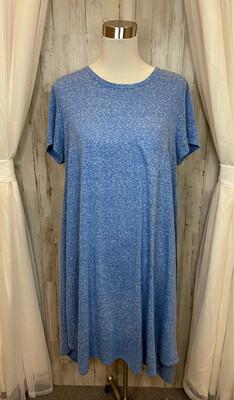 LulaRoe Blue & White Pocket Dress - XL
