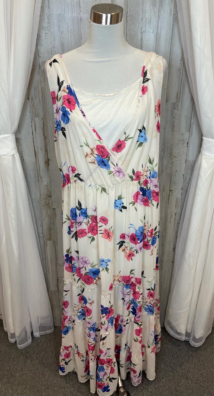 Torrid Cream Floral Maxi Dress - 2XL