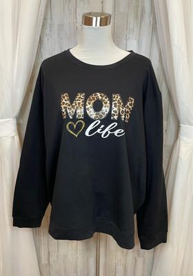 Shein Curve Black Mom Life Top - 4XL