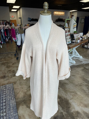 Aly Daly Pale Yellow Long Cardigan - OS