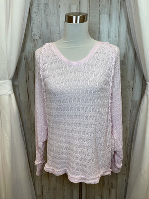 We The Free Pink V-neck Top - S