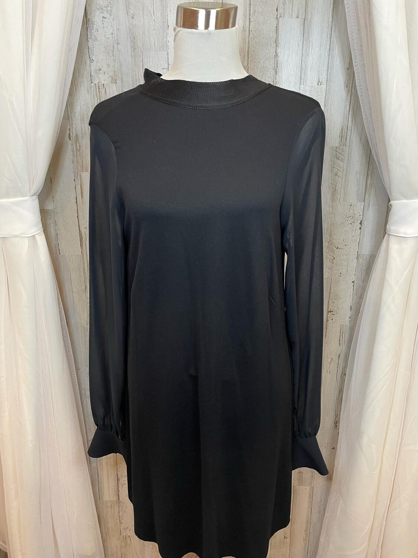 Zara W/B Collection Black Dress w/Tie at Neck - M