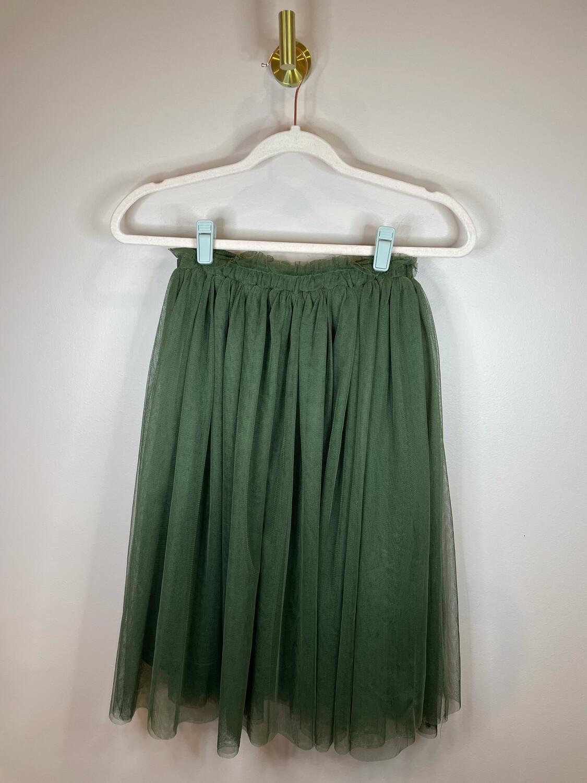 Chapel' Olive Tulle Skirt - M