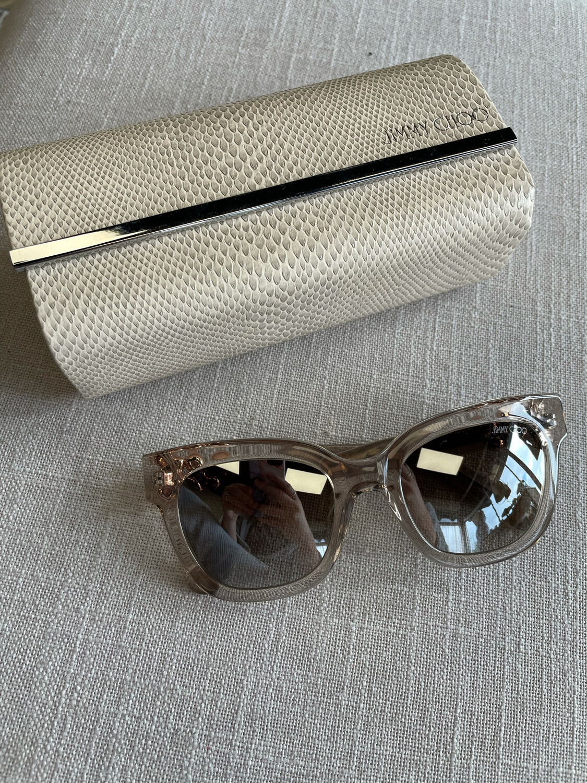 Jimmy Choo Maggie Sunglasses w/Gemstones