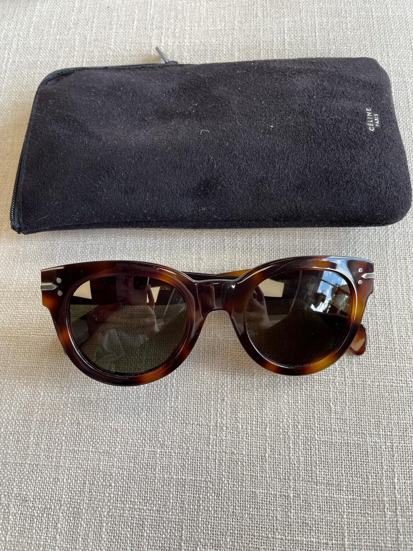 Celine Oversized Tortoise Sunglasses