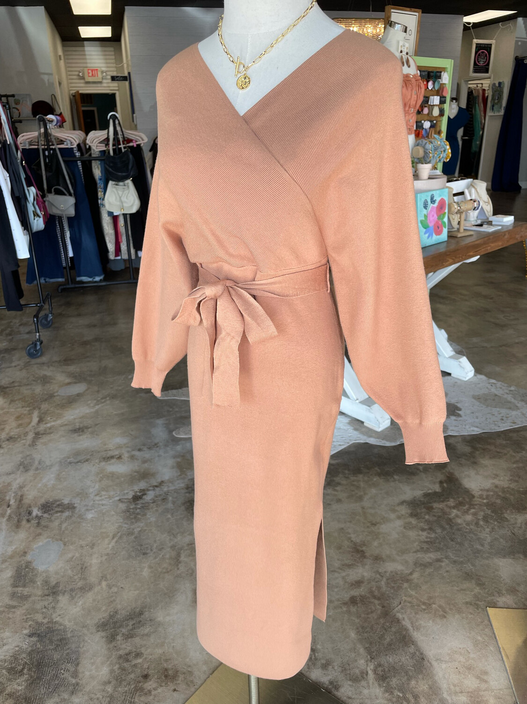 HYFVE Camel Belted Dress - S