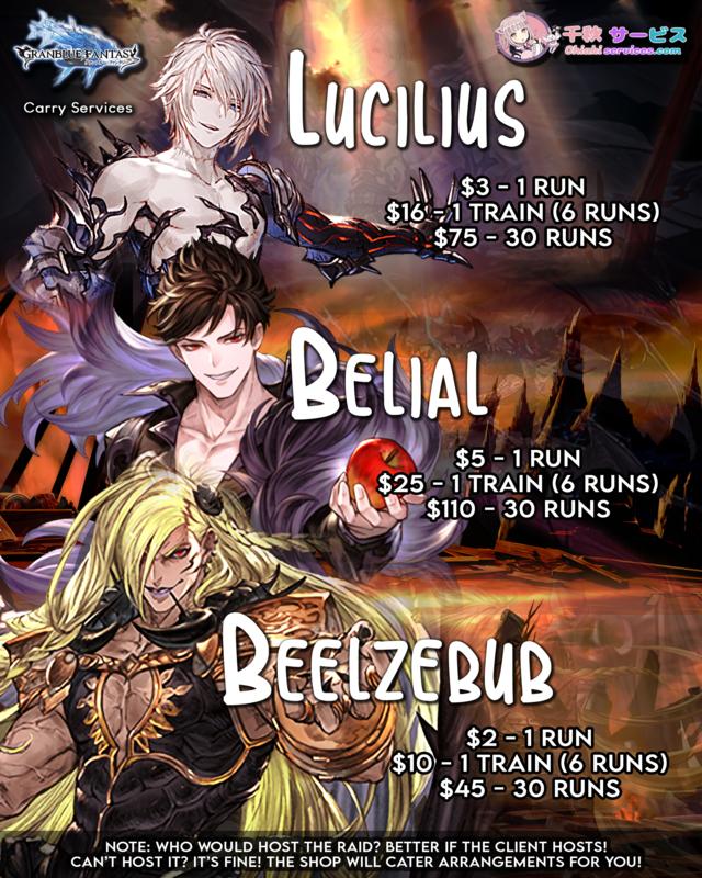 Lucilius HL / Beelzebub HL / Belial HL