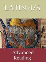Latin 4-5: Reading Intensive ~ Workbook