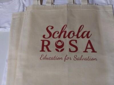 Schola Rosa Canvas Tote