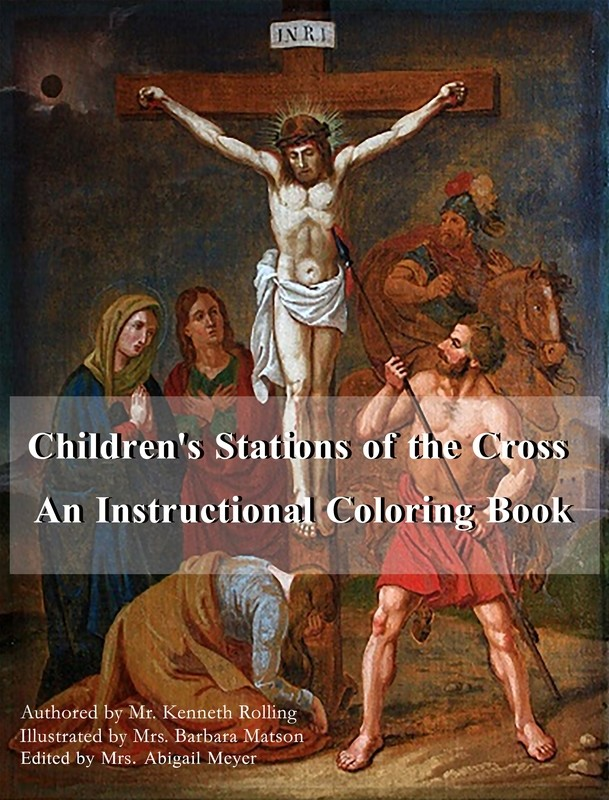 Children's Stations of the Cross: Instructional Coloring Book