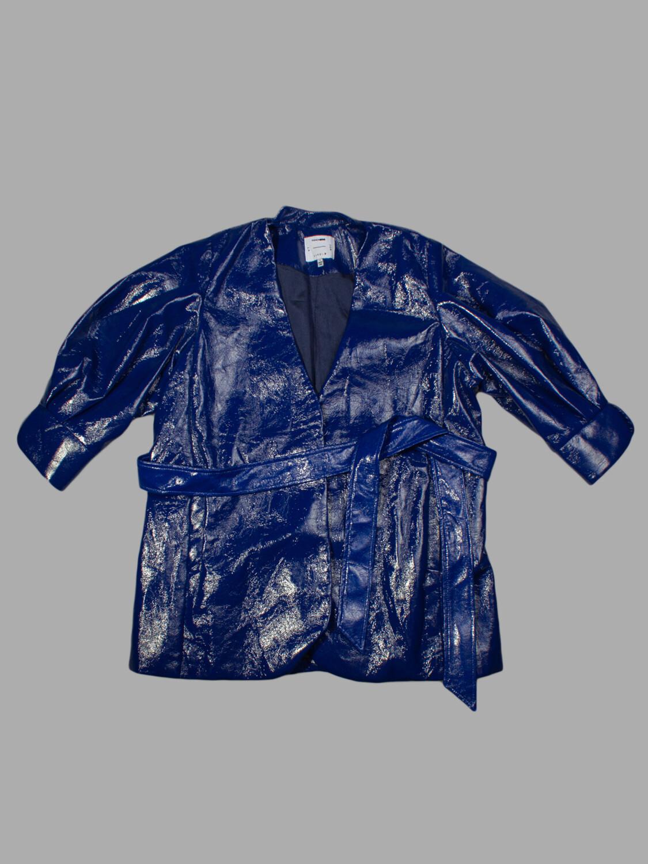 Пальто лакированное