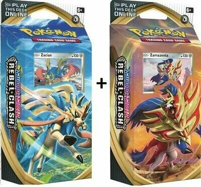 Sword and Shield Rebel Clash Theme Decks Zacian & Zamazenta