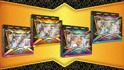 4x Shining Fates Mad Party Pin Collections