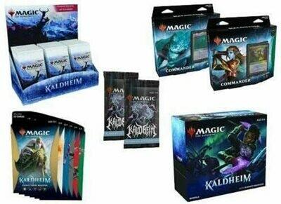 Kaldheim Set Box, Bundle, 6 Theme Packs, 2 Commander Decks, 2 Collector Packs - BONUSPACK
