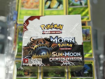 Pokemon Sun & Moon Crimson Invasion Booster Box - BONUSPACK