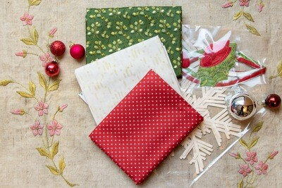 Holiday Trio Stocking Fabric Kit - Limited Edition