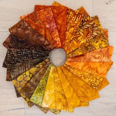 Autumn Batik Fat Quarter Bundle