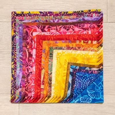 "Aloha Batiks Layer Cake - 10"" squares"
