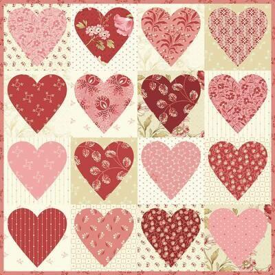 Heart to Heart Pillow Fabric Kit