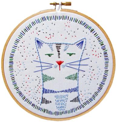 DIY Embroidery Kit - Nigel Nine Lives