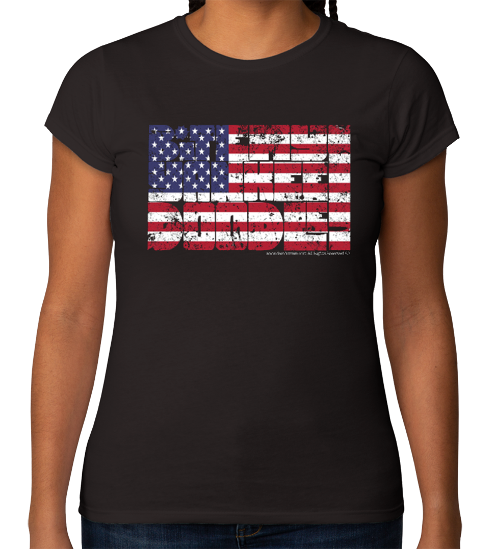Bite My Yankee Doodle :: Ladies 100% Cotton Softstyle (These run small)