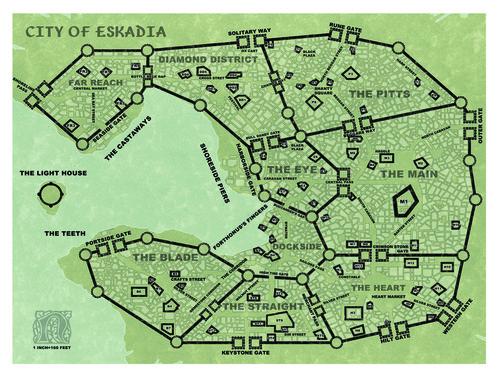Castles & Crusades Free City of Eskadia -- Maps D