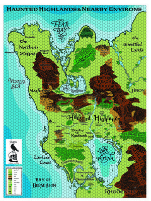 Castles & Crusades Haunted Highlands Map by Darlene Digital