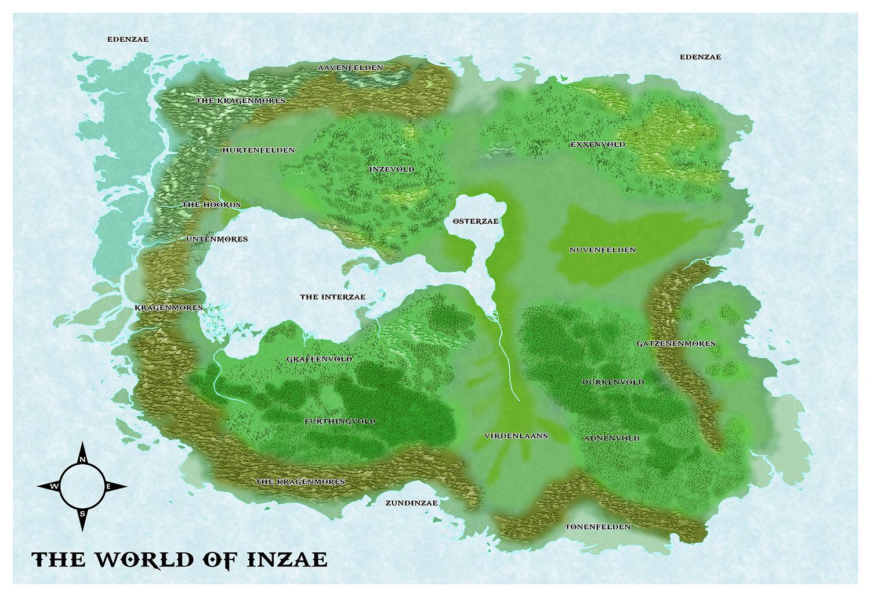 Castles & Crusades Inzae World Map -- Print & Digital