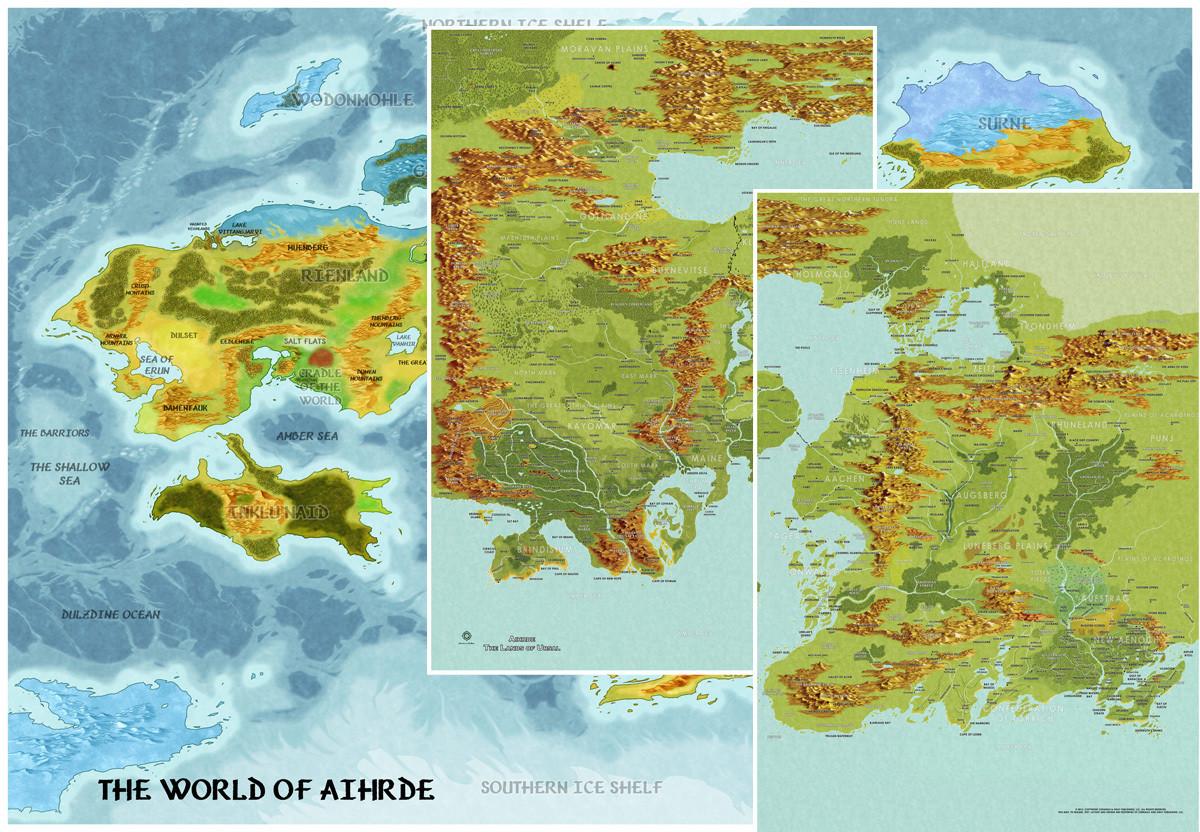 Codex of Aihrde Map Pack Digital