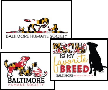 Baltimore Humane Society Maryland Flag T-Shirts - white
