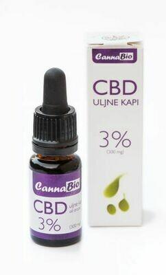 CBD uljne kapi s uljem konoplje 3 % - 10 ml
