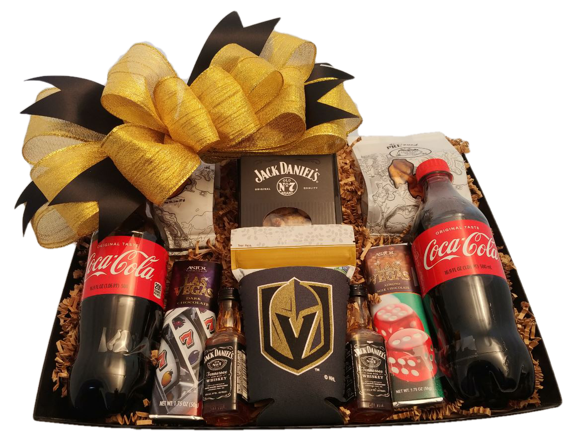 Golden Knights Jack Daniels Snack Basket