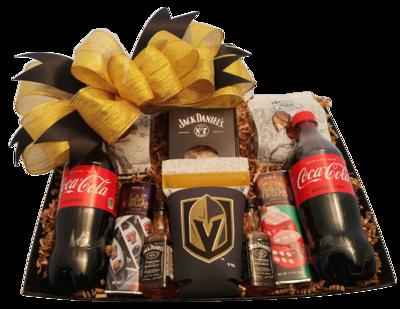 Golden Knights Jack Daniels Snack Basket