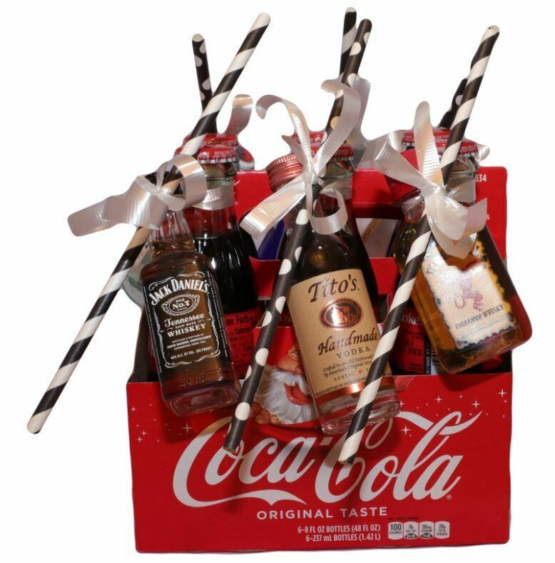 Coke and mini Liquors