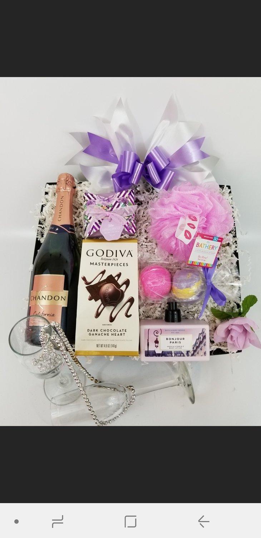 Custom Pampering/Gourmet Gift Basket