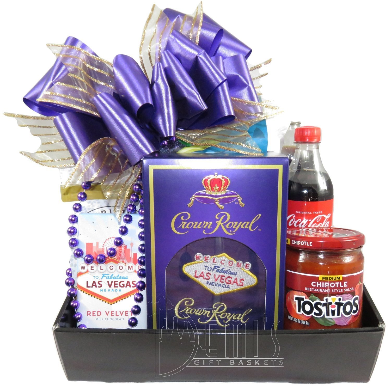 Crown Royal and Snacks Gift Basket