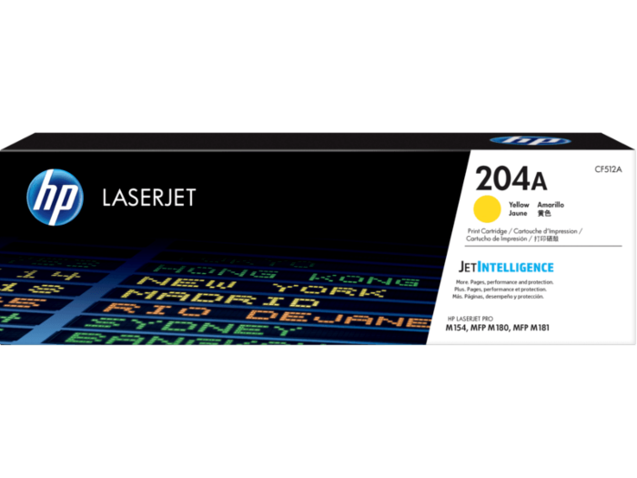 HP 204A 黃色原廠 LaserJet 碳粉 CF512A