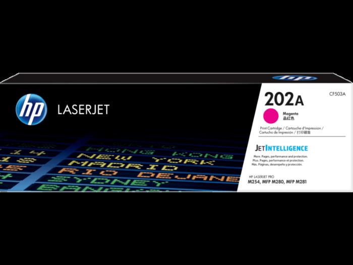 HP 202A 洋紅色原廠 LaserJet 碳粉 CF503A