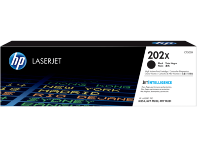 HP 202X 高打印量黑色原廠 LaserJet 碳粉 CF500X