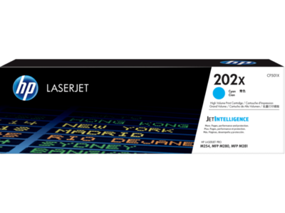 HP 202X 高打印量青色原廠 LaserJet 碳粉 CF501X