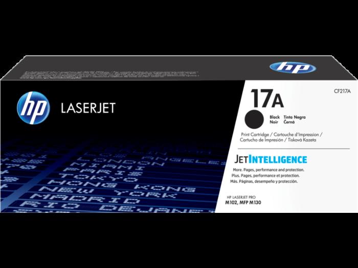 HP 17A 黑色原廠 LaserJet 碳粉 CF217A