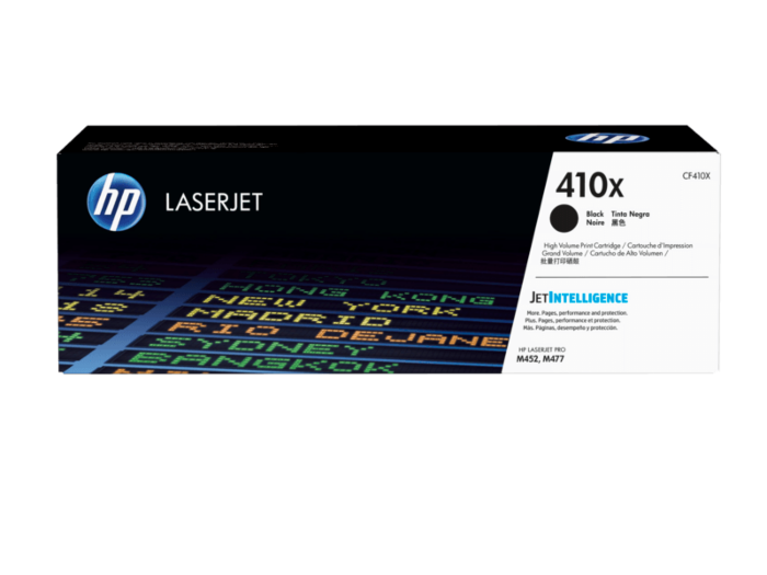 HP 410X 高打印量黑色原廠 LaserJet 碳粉 CF410X